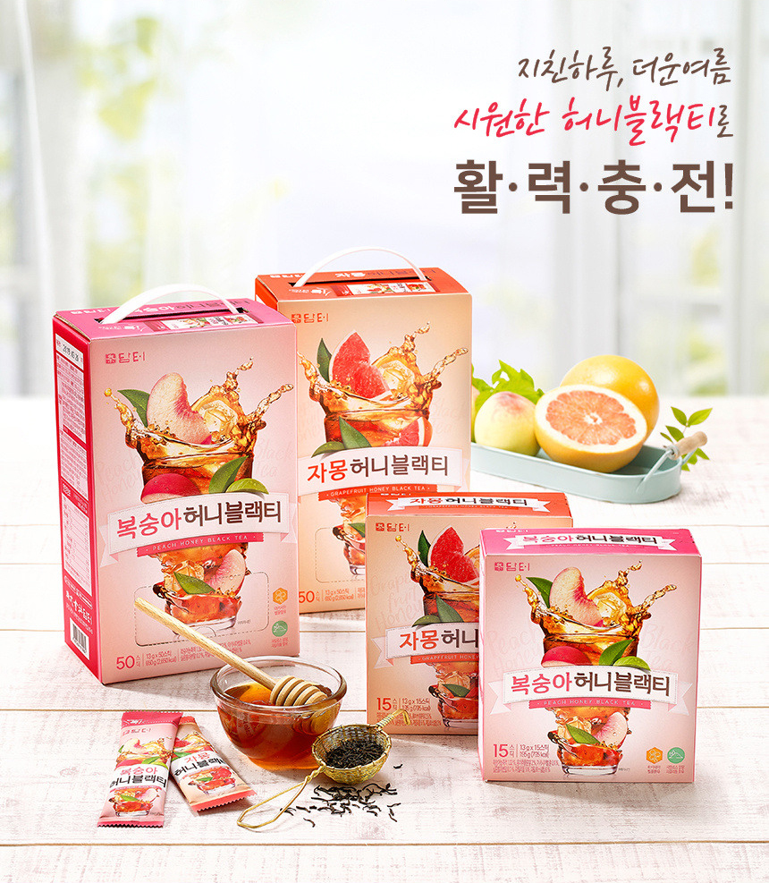 [ Damtuh ] Peach Honey Black Tea 50T