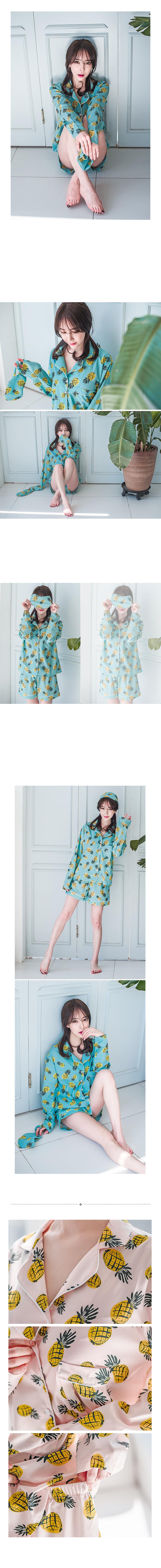 여름 파인애플 잠옷 SET - 로로걸, 22,900원, 잠옷, 여성파자마