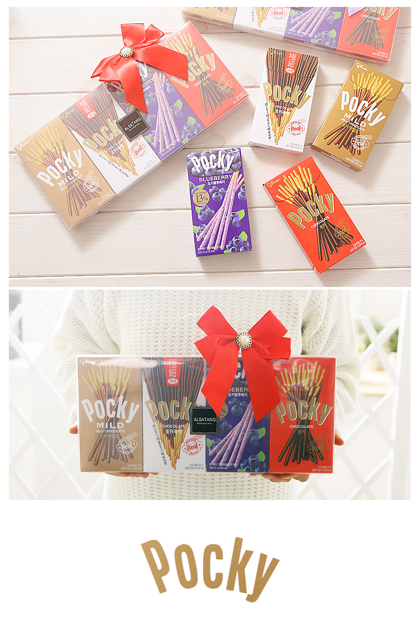 [ Lotte ] Pocky Rectangular PP Case Gift Set 4flavors(4Packs)