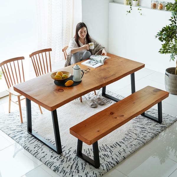 뉴송 우드슬랩 테이블 통원목식탁 떡판 테이블