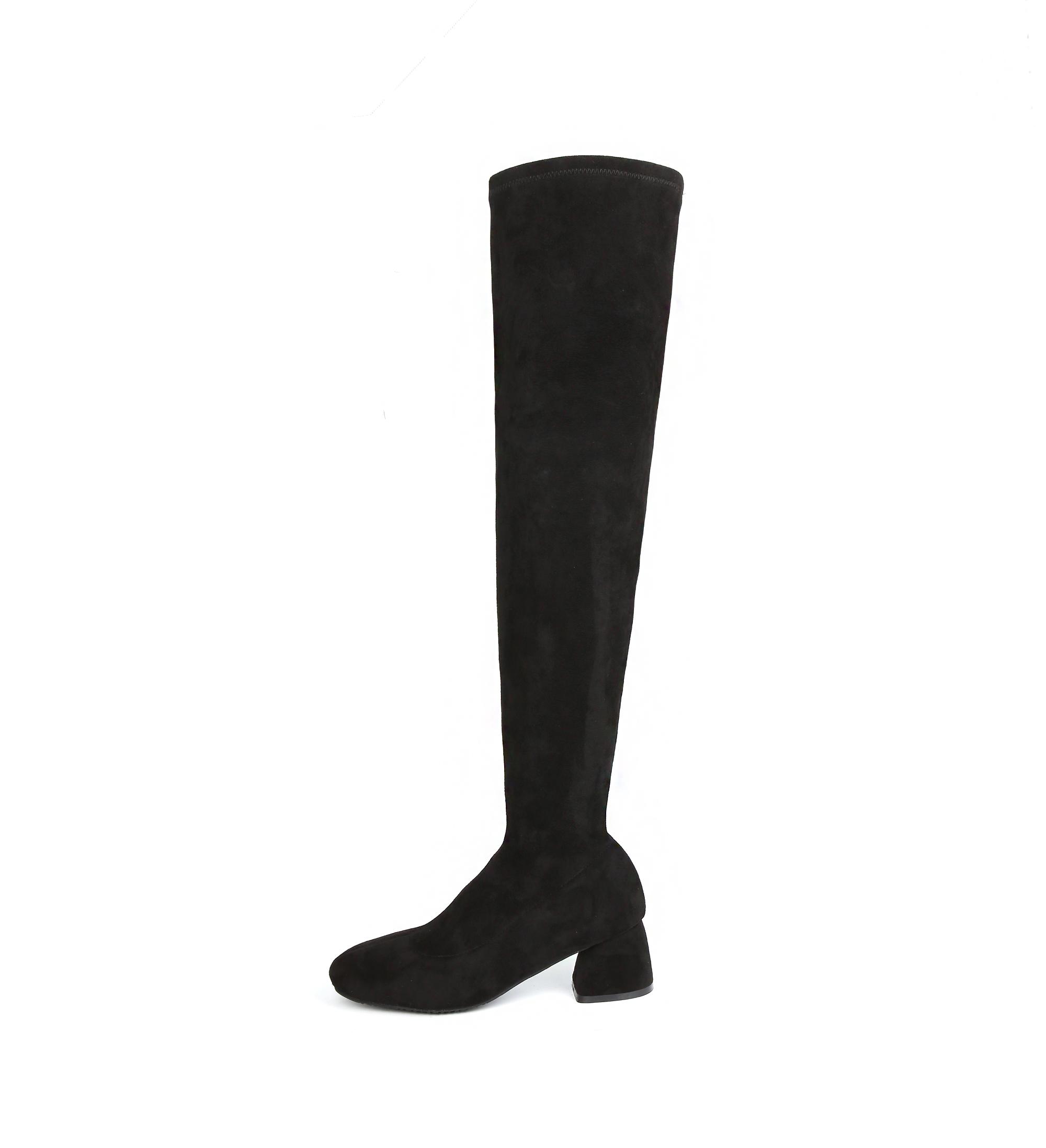 리플라(LI FLA) 19B514 black socks high ankle boots