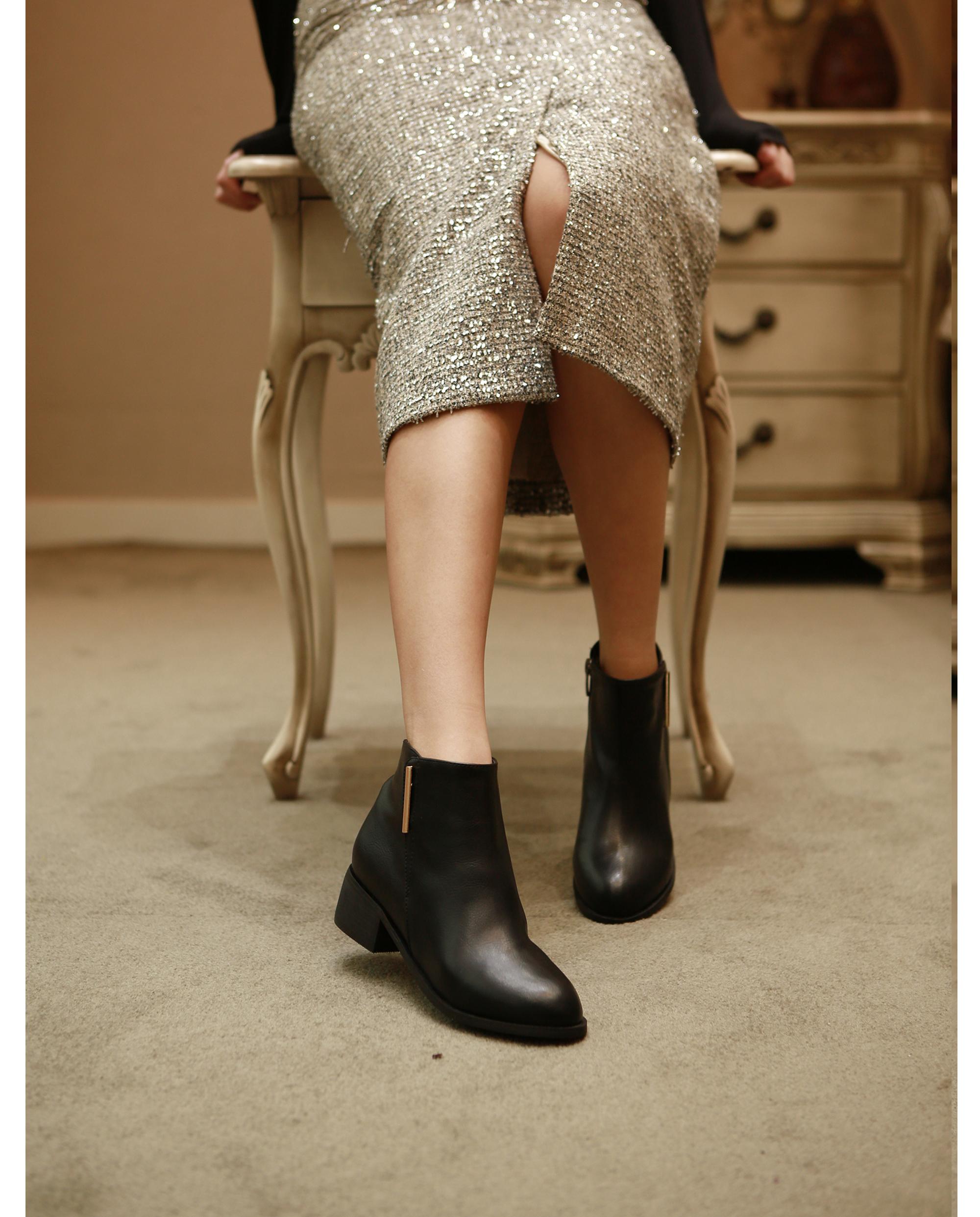 리플라(LI FLA) 19B524 black ankle