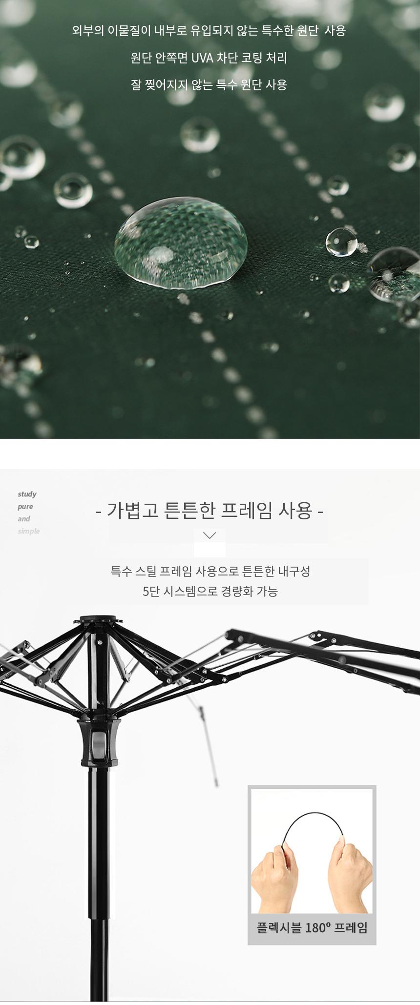 5단양산 자외선차단 우양산 미니 휴대용양산 - 슈와츠코리아, 12,000원, 양산, 양산