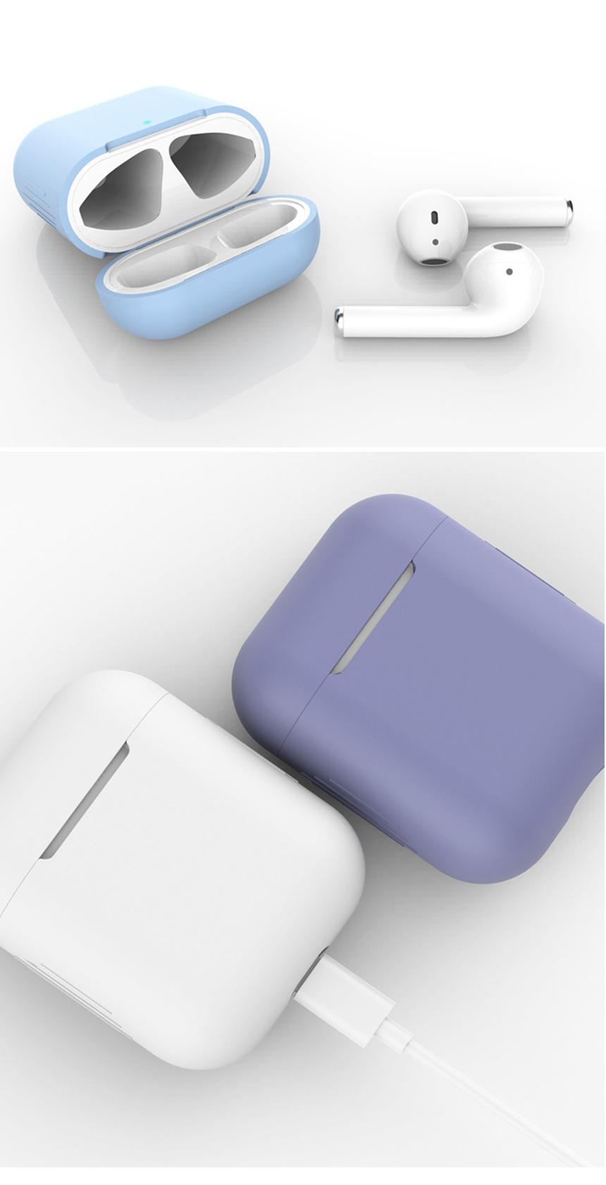 이어폰 악세서리 무선이어폰 에어팟 실리콘 케이스 베이직 - 슈와츠코리아, 3,000원, 이어폰, 이어폰 악세서리