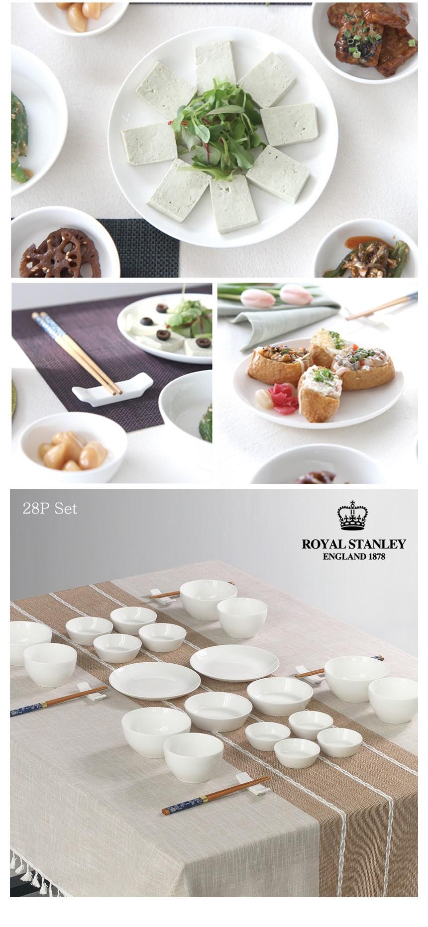 로얄 스탠리 화이트 홈세트 28P - 토토리빙, 48,500원, 식기홈세트, 4인세트