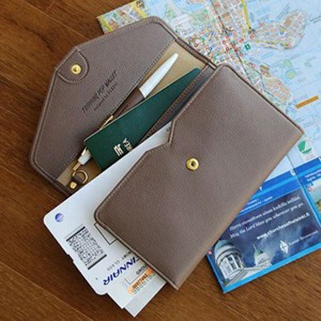 플레이오브제 트리핑 팝 월렛 여행용 여권지갑
