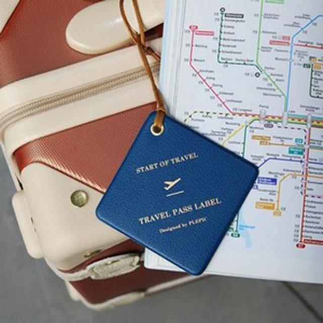 플레픽 Travel Pass Label 네임택 러기지택
