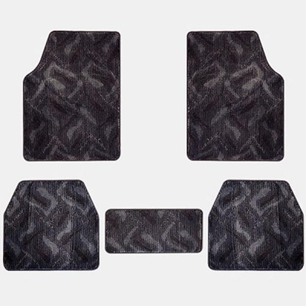 전차종공용 엠보싱 직물매트 5P 앞좌석1열+뒷좌석2열