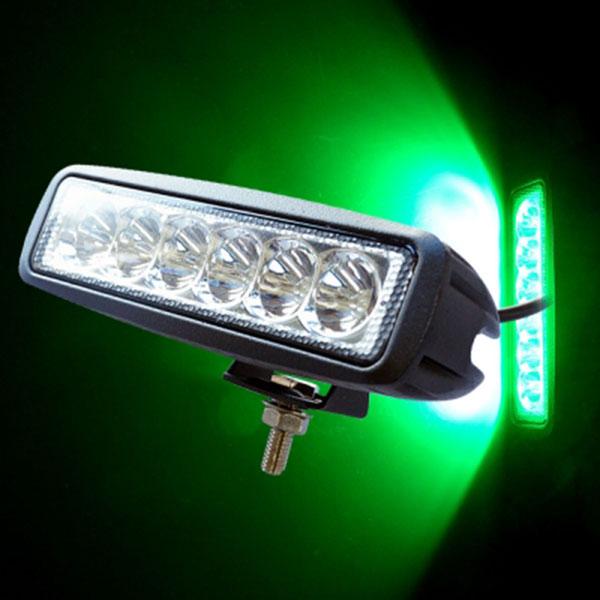 18W NO.172G 그린 집중형 12V/24V겸용 완벽방수 LED써치라이트