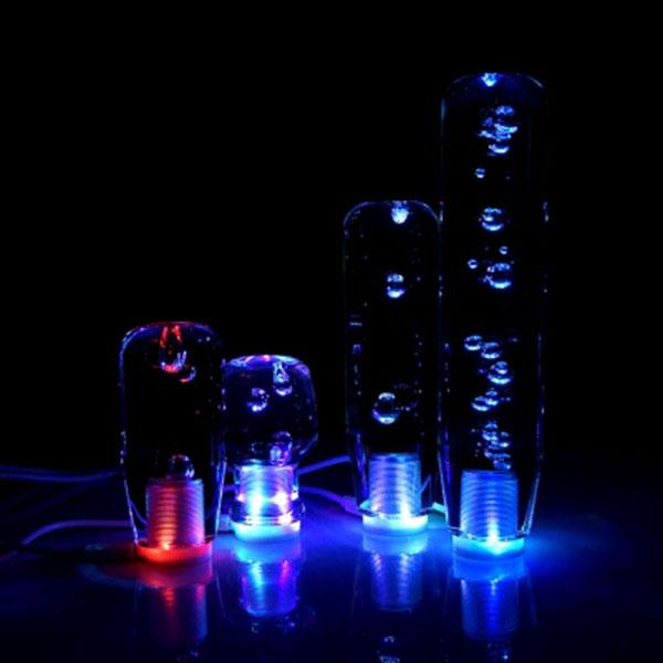 투명물방울 RGB LED 기어노브 기어봉 수동기어전용