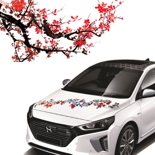 매화 꽃 스티커 Plum blossoms STICKER
