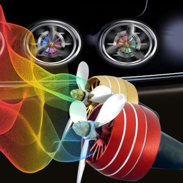 LED 3날 프로펠러 송풍구 방향제 자동차량용