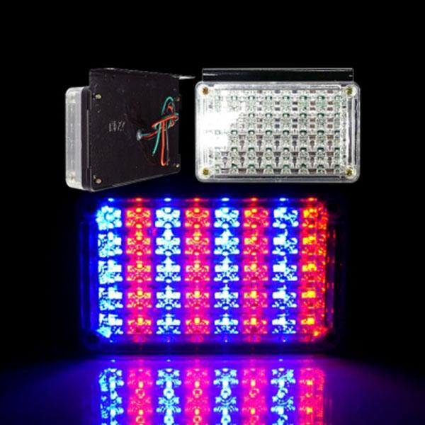24V전용 2WAY LED사각등 낱개1개 레드-블루