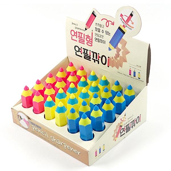 500연필형연필깎이 30개묶음판매 B-10
