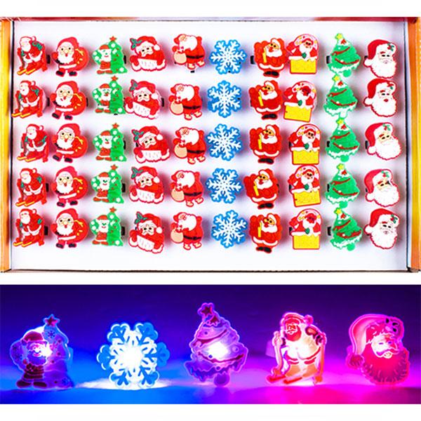 500크리스마스라이트반지 50개묶음판매 E-1