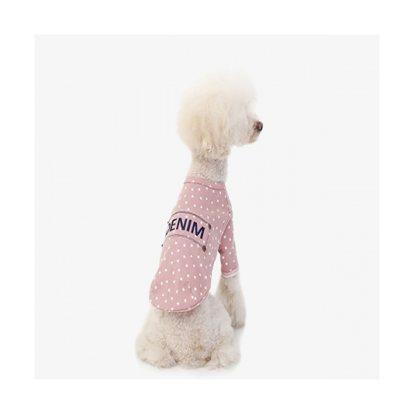 Denim Pink_데님 강아지옷