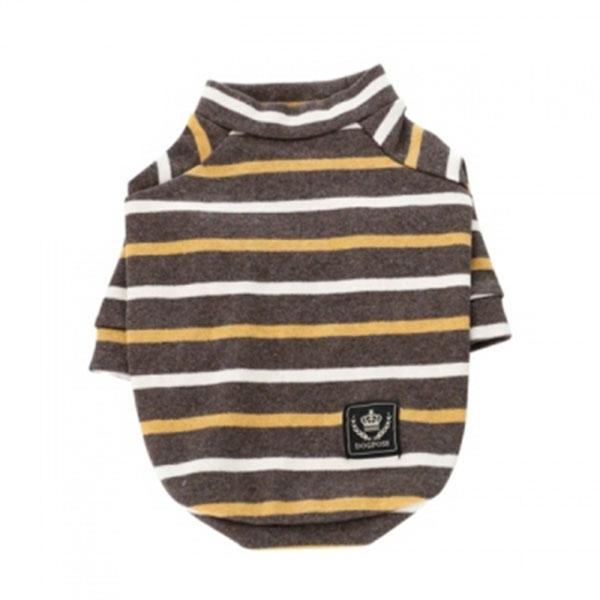 도그포즈 베이직 티셔츠 브라운 S