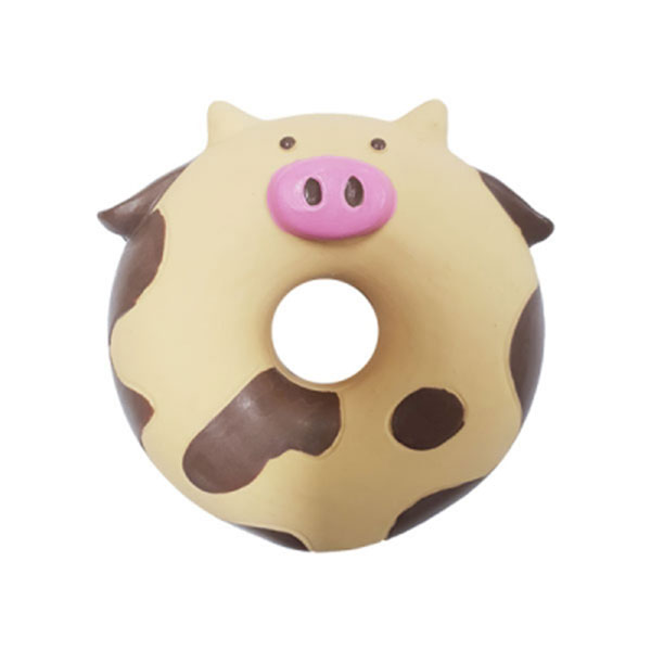 칼리 도넛 라텍스 장난감 카우
