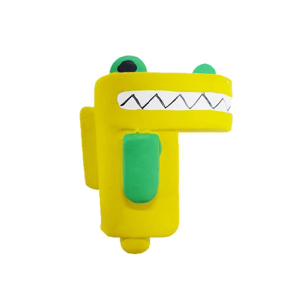 칼리 스퀘어 라텍스 장난감 악어