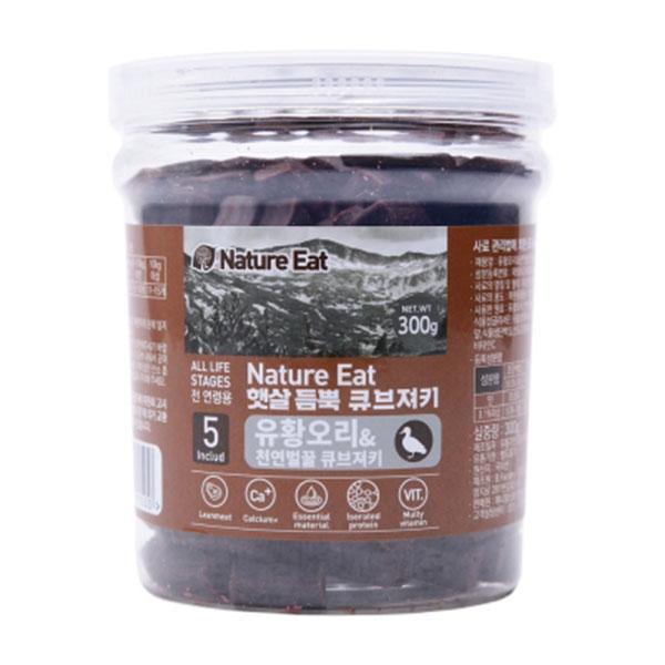 네이처잇 유황오리와 천연벌꿀 큐브져키 300g