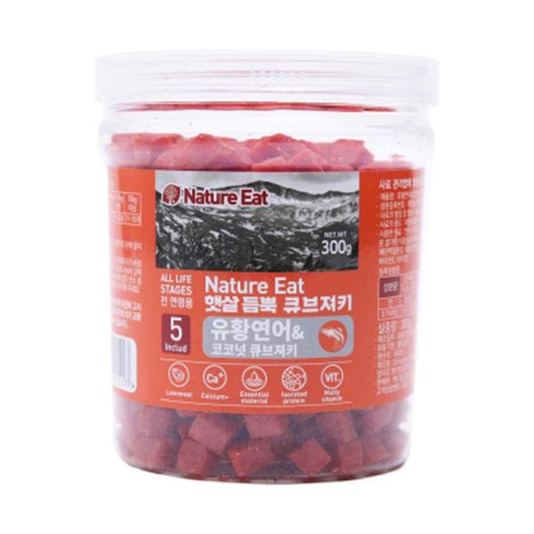 네이처잇 유황연어와 코코넛 큐브져키 300g
