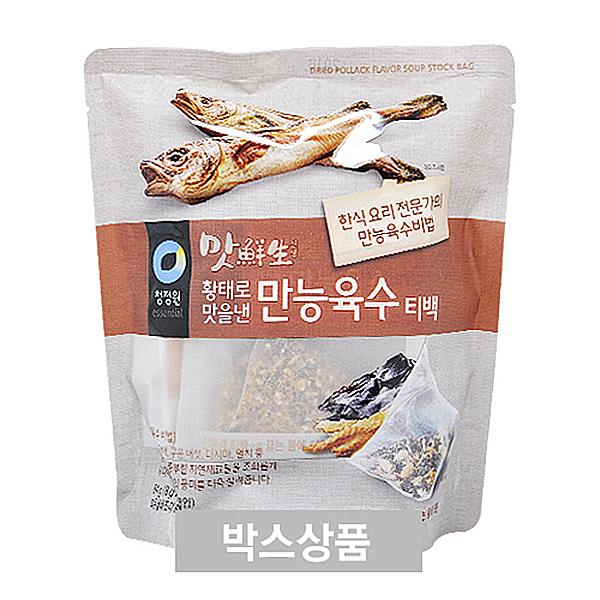 청정원 맛선생 황태로 맛을낸 만능육수 티백 64g X 12EA