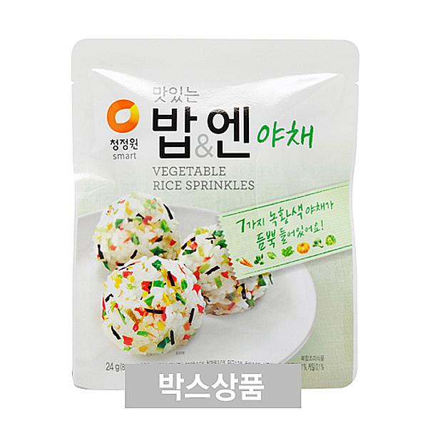 청정원 맛있는 밥엔 야채 24g(8g x 3개입) X 40EA
