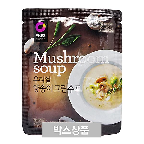 청정원 우리쌀 양송이크림수프 60g 3인분 X 30EA