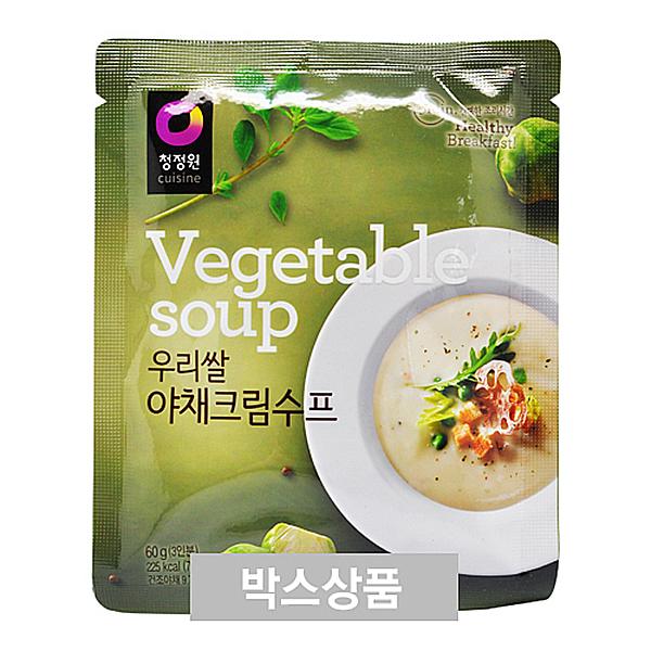 청정원 우리쌀 야채크림수프 60g 3인분 X 30EA