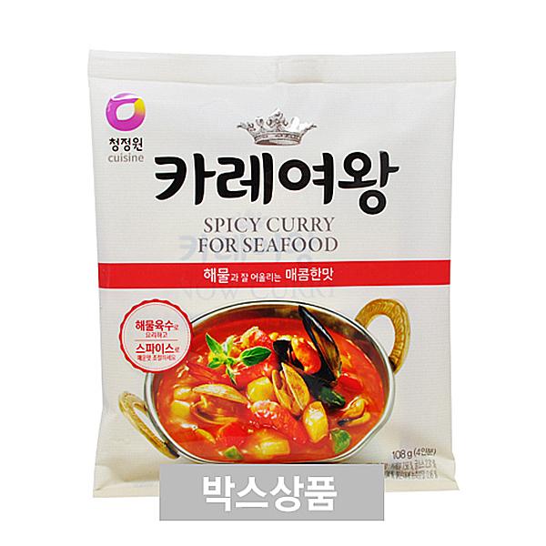 청정원 카레여왕 해물과 잘 어울리는 매콤한맛 108g 4인분 X 16EA