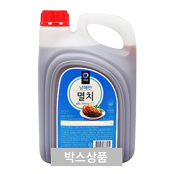 청정원 남해안 멸치 액젓 2504ml(3kg) X 4EA