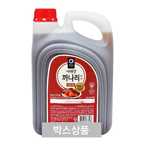 청정원 서해안 까나리 액젓 골드 2491ml(3kg) X 4EA