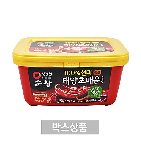 청정원 순창 현미100 태양초 매운 고추장 골드 2.5kg X 4EA