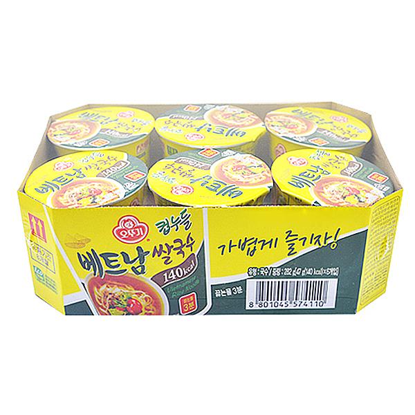 오뚜기 컵누들 베트남 즉석 쌀국수 47g x 6개입