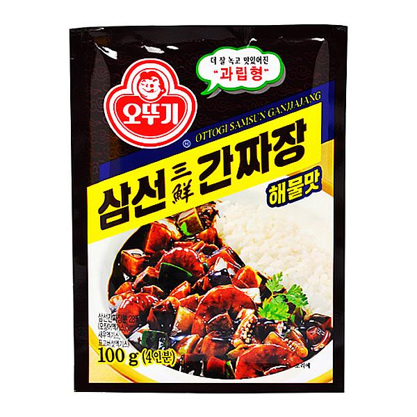 오뚜기 과립형 삼선 간짜장 해물맛 100g 4인분