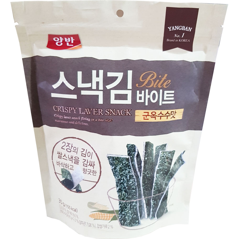 동원 양반 스낵김 바이트 군옥수수맛 35g
