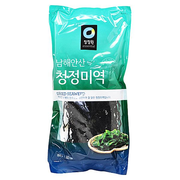 청정원 남해안산 청정 미역 80g 32인분