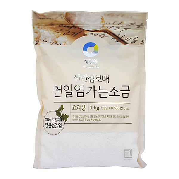 청정원 천일염 가는 소금 1kg