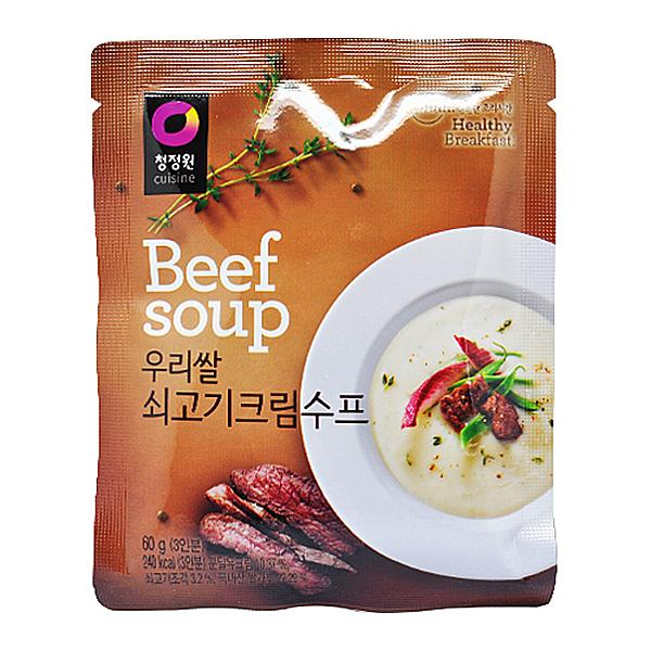 청정원 BeefSoup 우리쌀 쇠고기 크림수프 60g 3인분