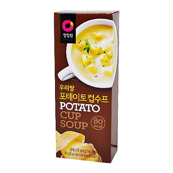 청정원 우리쌀 포테이토 컵수프 60g(20g x 3개입)