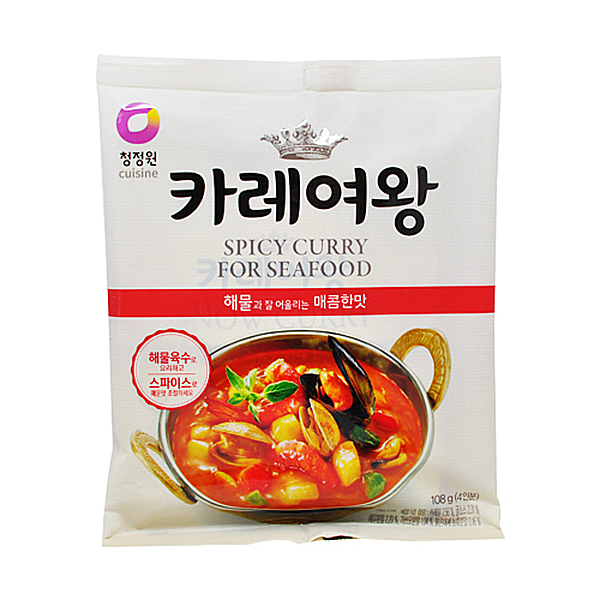 청정원 카레여왕 해물과 잘 어울리는 매콤한맛 108g 4인분