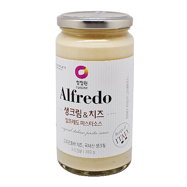청정원 Alfredo 생크림&치즈 알프레도 파스타소스 350g 2인분