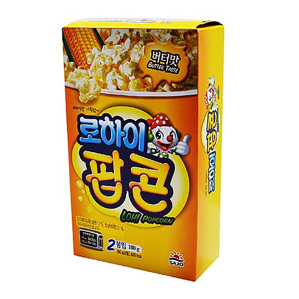 로하이 팝콘 90gX2봉 180g X 12EA_1BOX