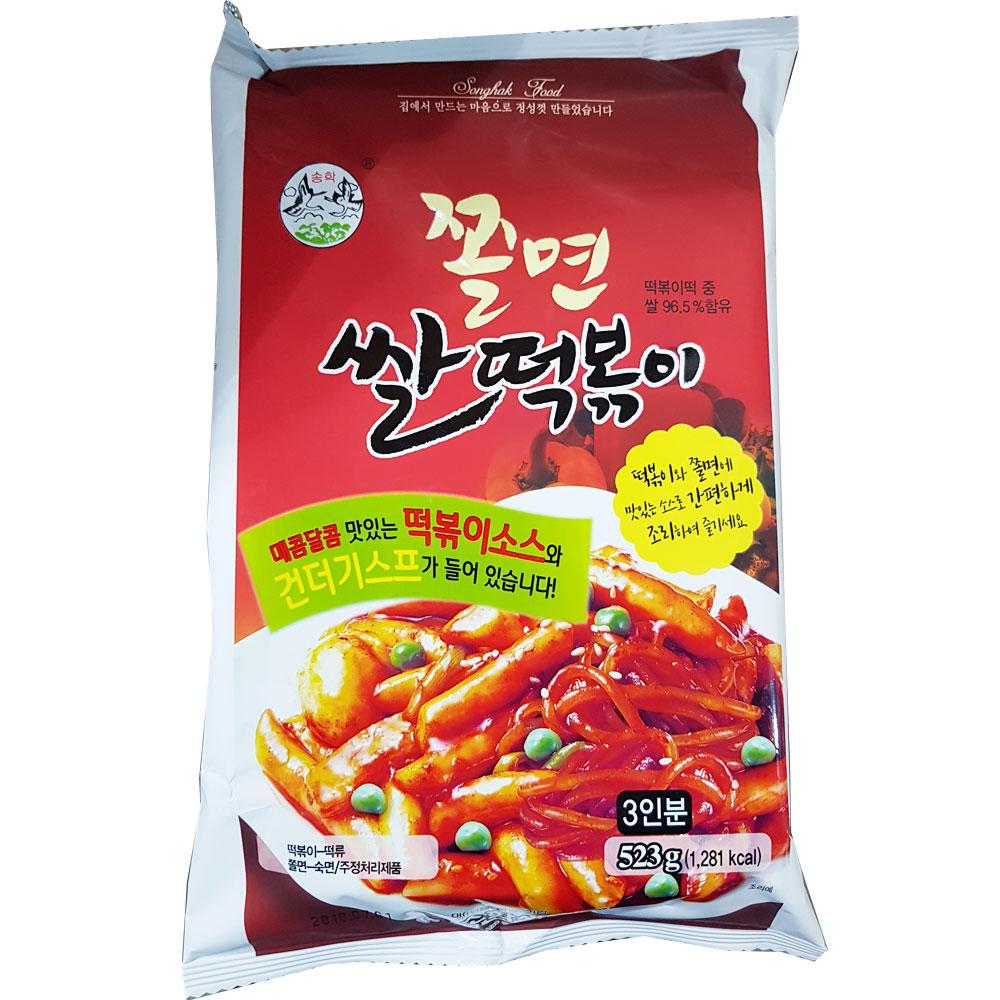 송학식품 쫄면 꼬마 쌀떡볶이 573g X 8EA_1BOX