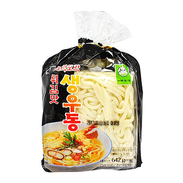 송학식품 튀김맛 생우동 642g