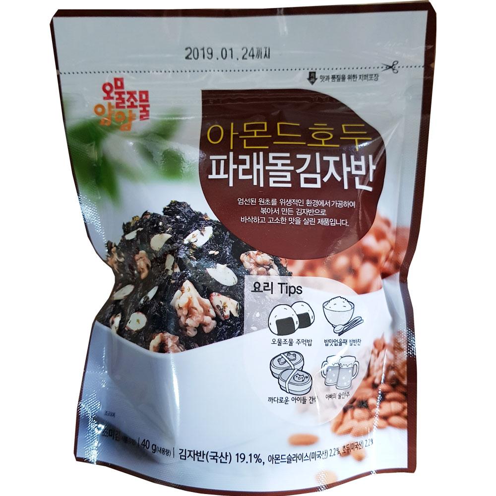 오물조물얌얌 아몬드호두 파래돌 김자반 40g