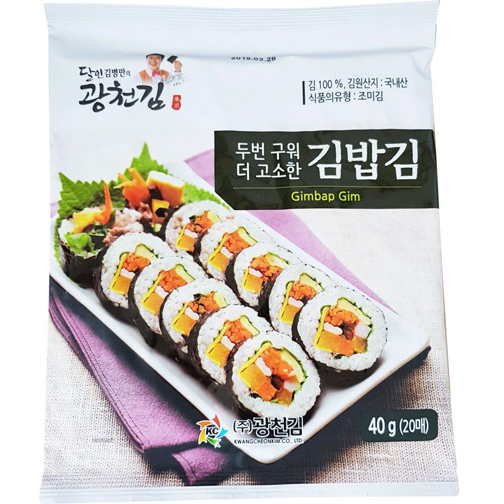 광천 달인 두번구워 더 고소한 김밥김 40g