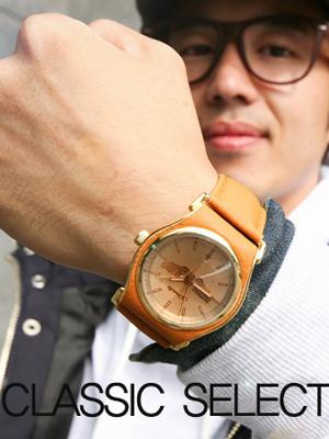 가죽 패치 시계