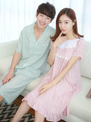 커플_에밀리 원피스잠옷(2color)