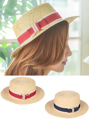 라피아 리본 모자
